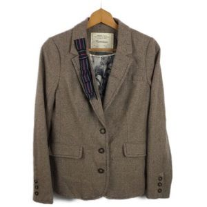 Anthropologie Cartonnier Tan Wool Blend Blazer